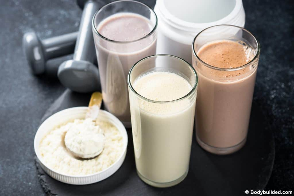 protein shake before or after a workout
