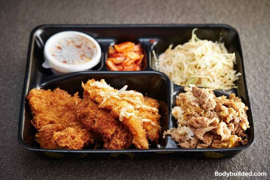 protein bento box low carb lunch idea