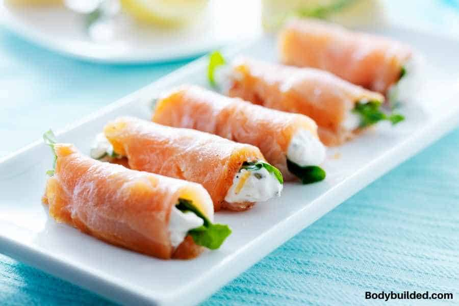 smoked salmon low carb lunch idea