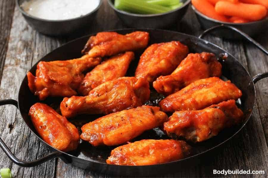 Buffalo wings low carb snack idea