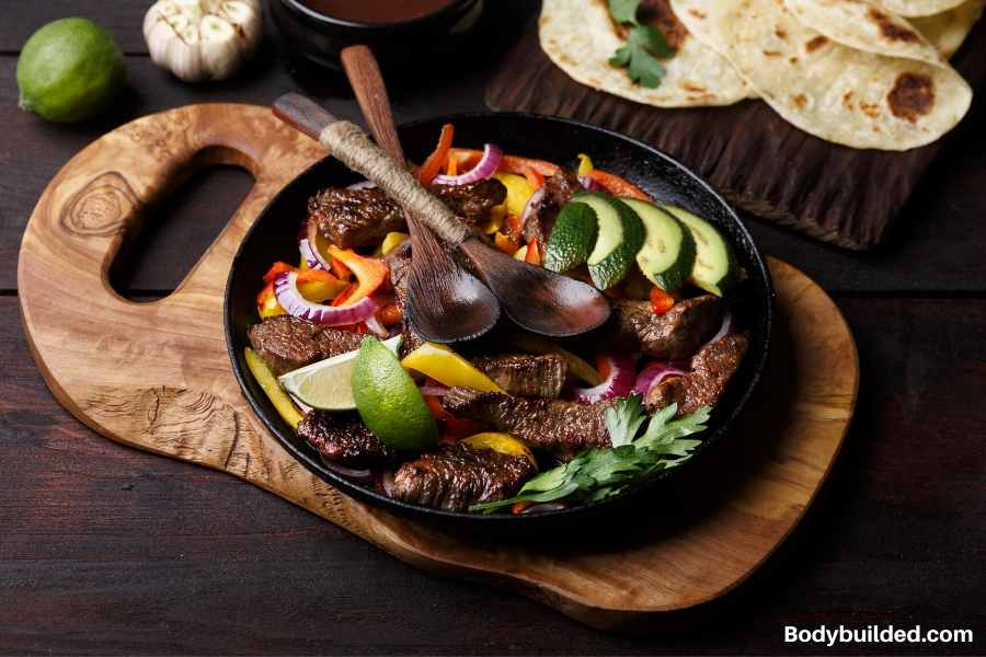 Beef fajitas low carb lunch idea