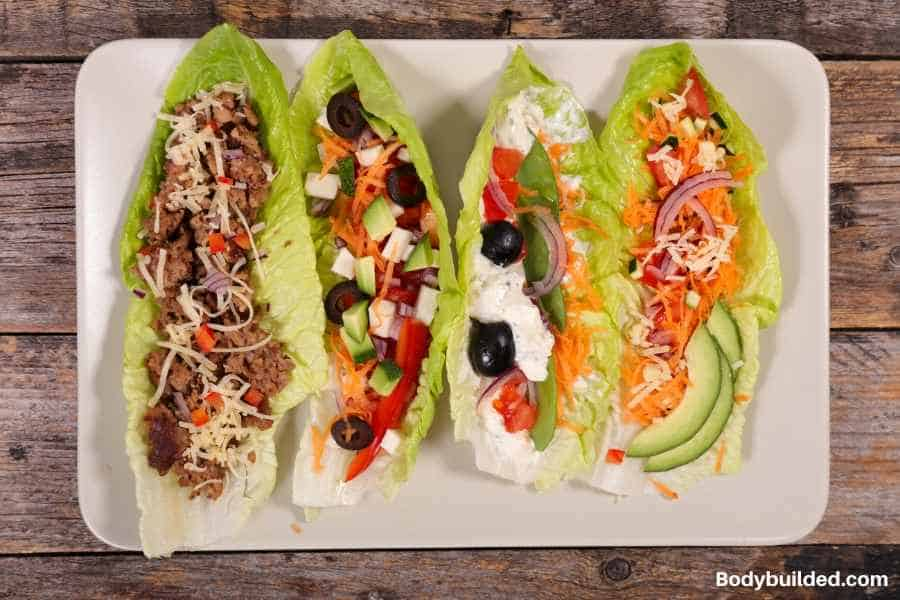 roasted beef and provolone lettuce wraps low carb lunches for kids