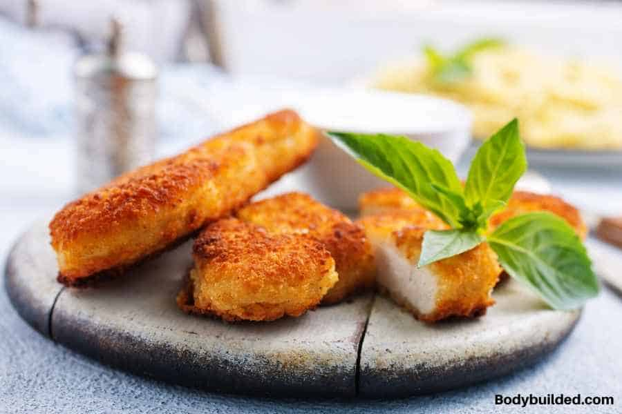 healthy chicken nuggets low carb lunch idea