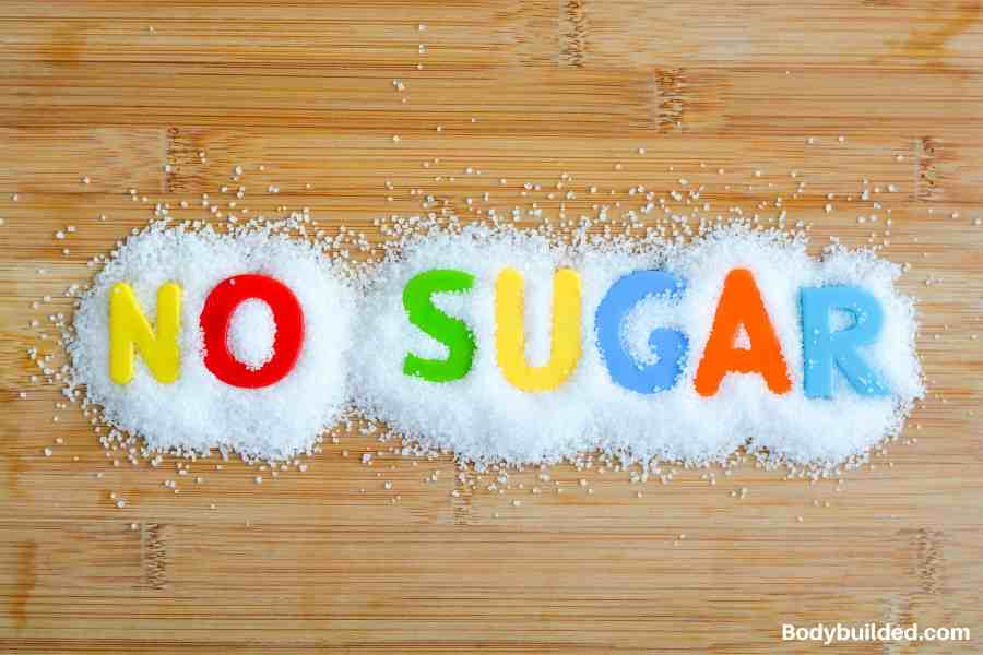 cut your sugar intake for abs