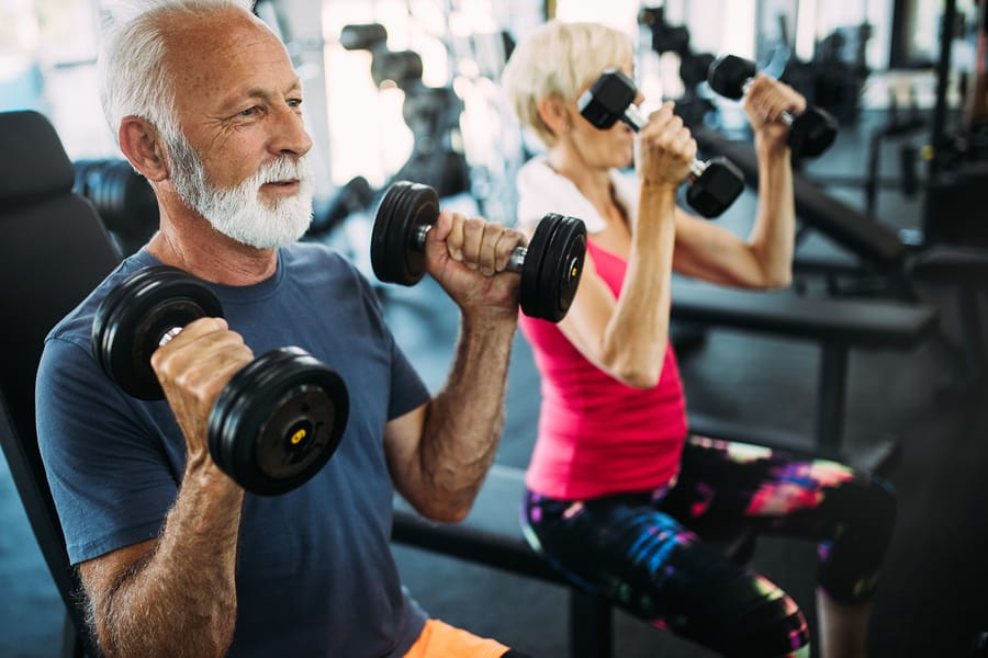 Sample training program for building muscles after 40