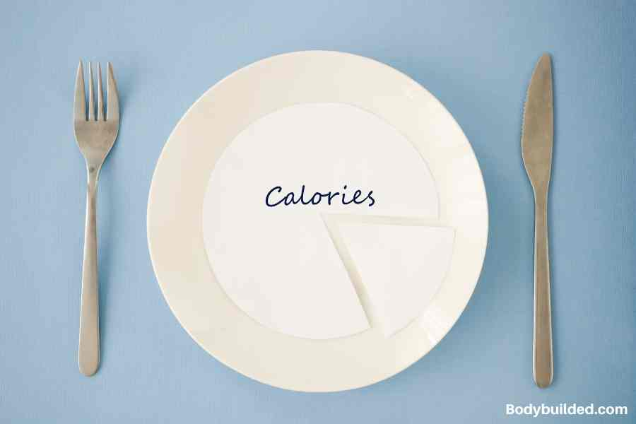 create a calorie deficit to lose body fat