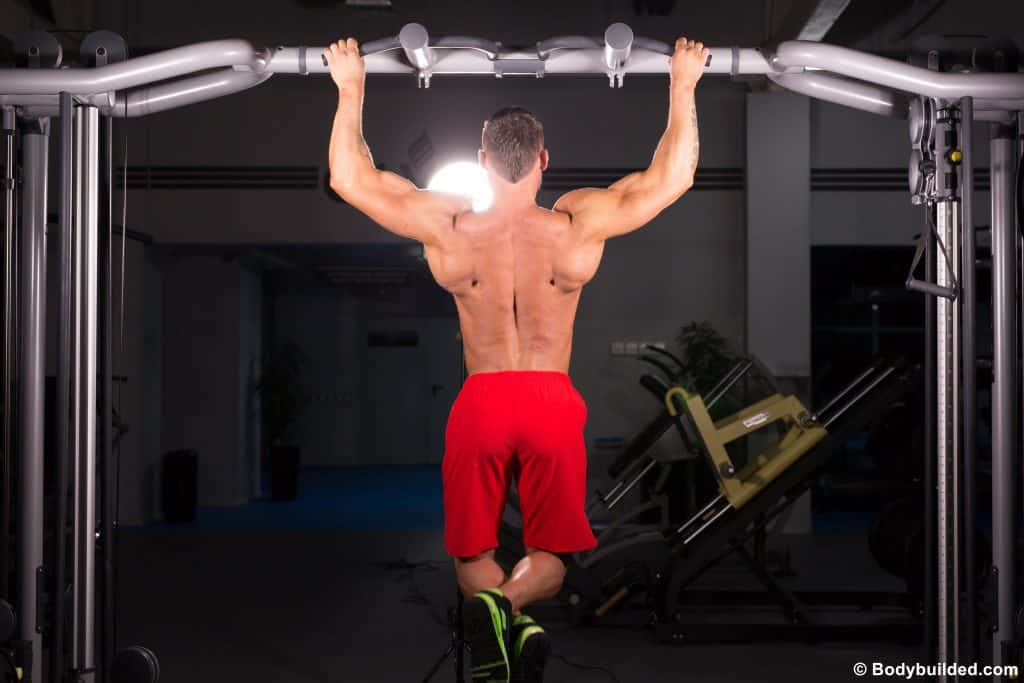 DIY pull up bar ab workouts